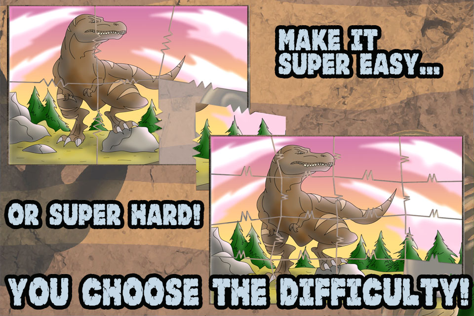 Screenshot Dinosaur JigSaw Puzzles – Animated Puzzle fun for Kids with Cartoon Dinosaurs – by Apps Kids Love, LLC