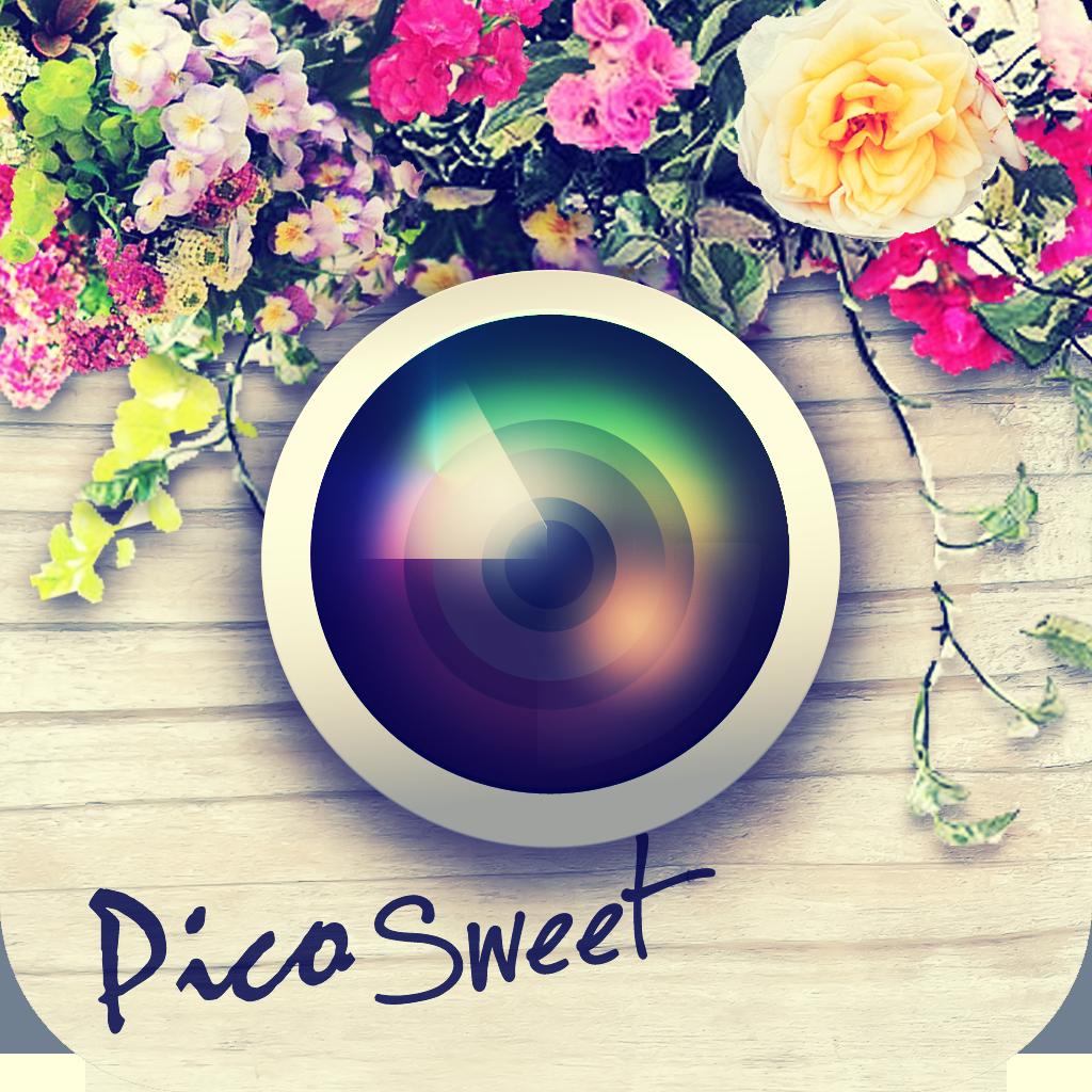 かわいい写真加工!Pico Sweet (ピコ・スイート)のワンタッチ・デコでお洒落に画像コラージュ編集